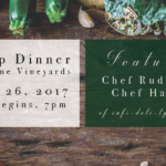 August 26th • Pop-Up Dinner at the Winery